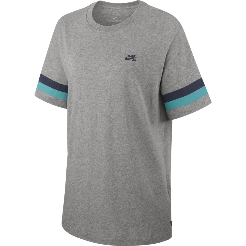 Nike M Nk Sb Tee Sleeve Stripe - dk grey heather