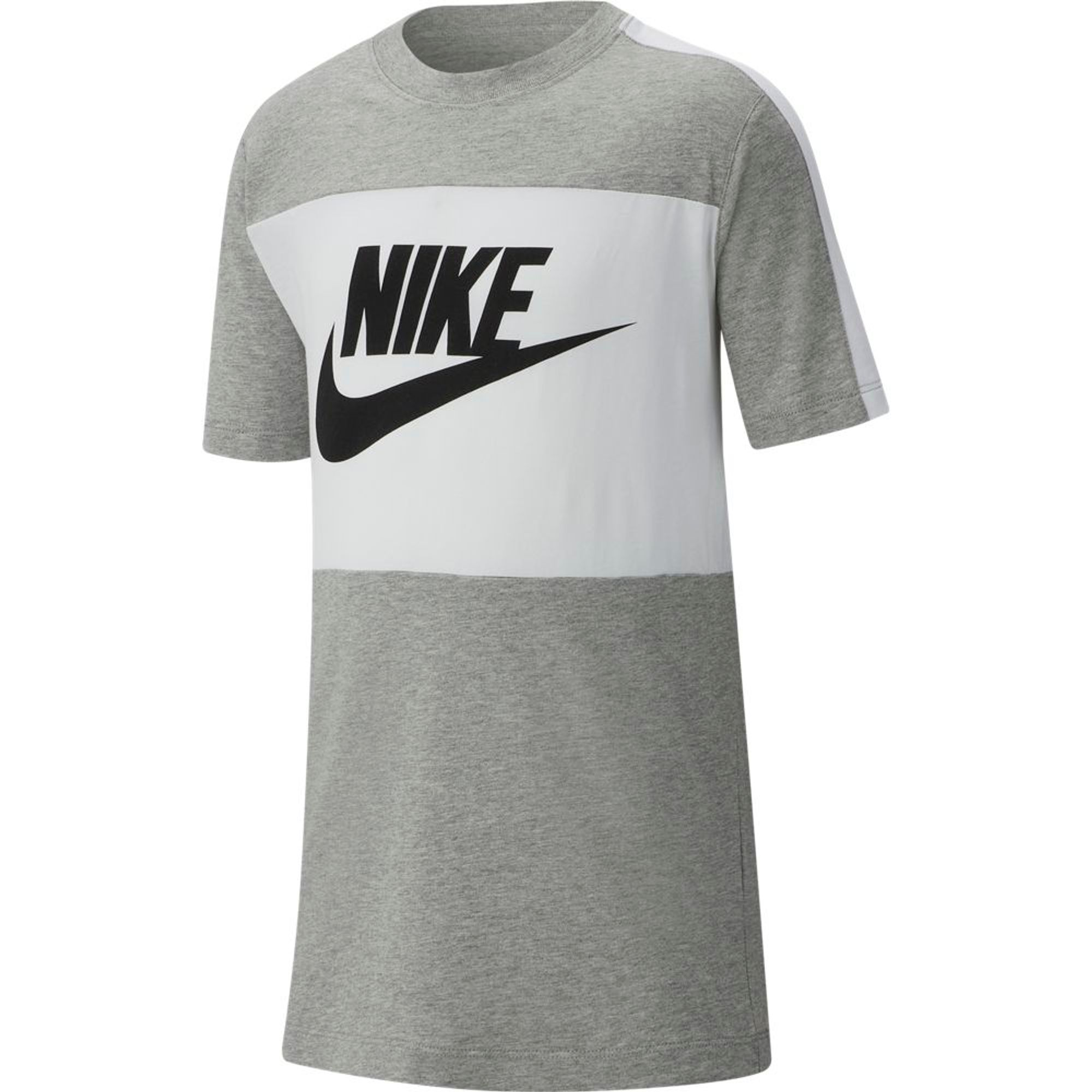 Nike B Nsw Tee Trend S+ - dk grey heather/white/black