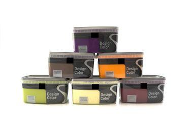 (8,99€/L) Design Color farbige Wandfarbe seidenglänzend 1l, FARBWAHL!!!   – Bild 1
