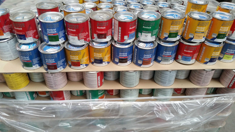 (2,67€/L) 15 Liter Restposten, Buntlacke auf Acrylbasis & Kunstharzbasis in 375ml & 750ml