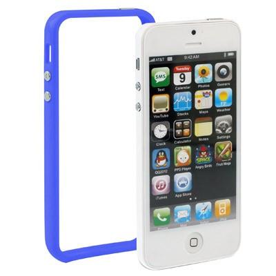 Bumber Blau für Apple Iphone 5 Blau Case Cover TPU Schutz Rahmen Wow