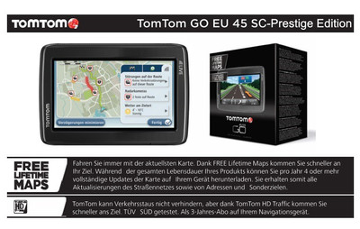 TOMTOM/TOM TOM GO EUROPA 45 LIFETIME MAPS INKL 3 JAHRE HD TRAFFIC&LIVE SERVICES