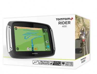 TOMTOM /TOM TOM RIDER 400 EUROPA 45 MOTORRAD BIKE NAVIGATION LIFETIME MAPS 4,3""