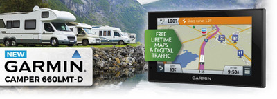 "GARMIN CAMPER&CARAVAN 660 LMT-D EUROPA LIFETIME MAPS 15,4 CM 6"" DISPLAY"