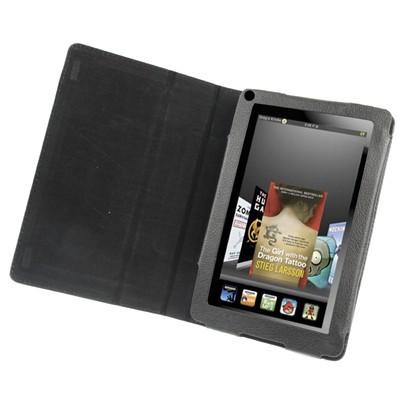Slim Tasche Glatt Case für Amazon Kindle Fire Schwarz Etui Hülle Cover
