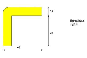 Warn- und Schutzprofil, Typ H+, Eckschutz, schwarz – Bild 2