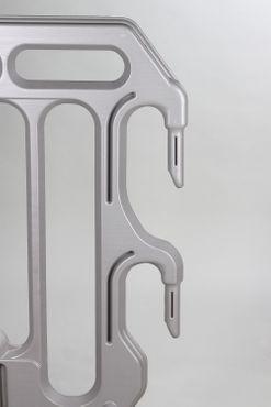 Absperrgitter 2000 mm, HDPE, Gelenkfuß schwenkbar, Grau  – Bild 3