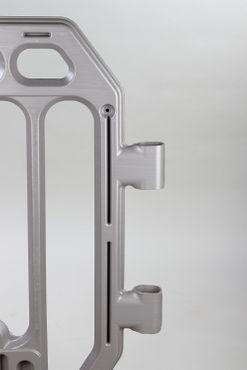 Absperrgitter grau aus Kunststoff – Bild 4