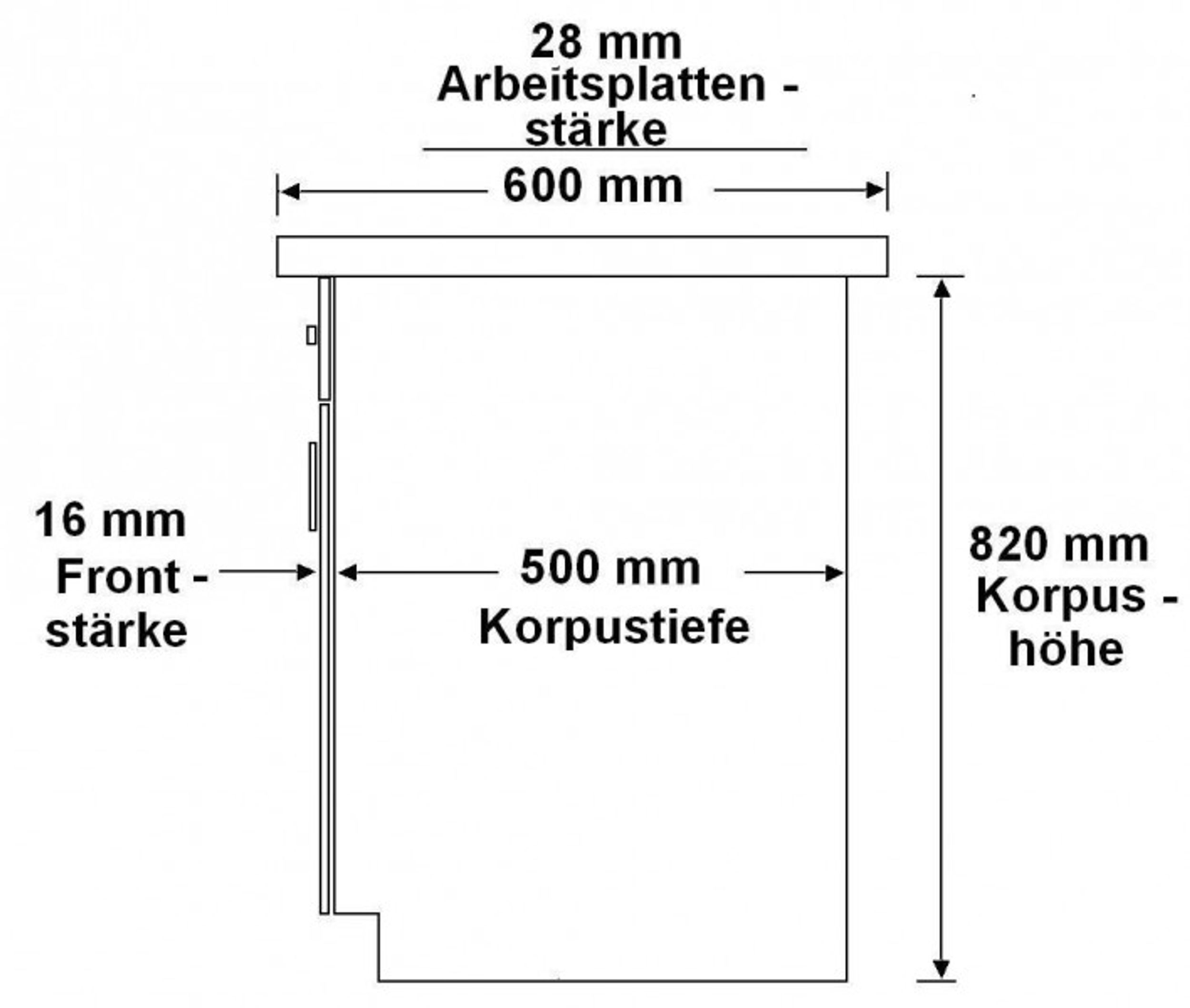 Küche Dave 240 cm Küchenzeile / Küchenblock variabel stellbar in Eiche Sonoma Trüffel – Bild 3