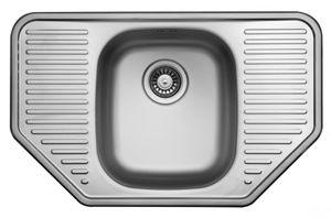 Edelstahlspüle 78x49cm mit Ablage Einbauspüle Edelstahl Waschbecken Küchenspüle – Bild 1