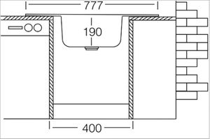 Edelstahlspüle 78x49cm mit Ablage Einbauspüle Waschbecken Küchenspüle Nils – Bild 3