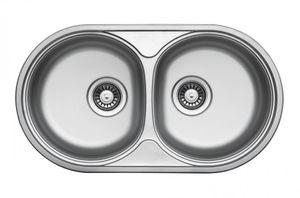 Edelstahlspüle 78x44cm Einbauspüle Edelstahl, Küchenspüle, Doppelspüle, 2 Becken – Bild 1