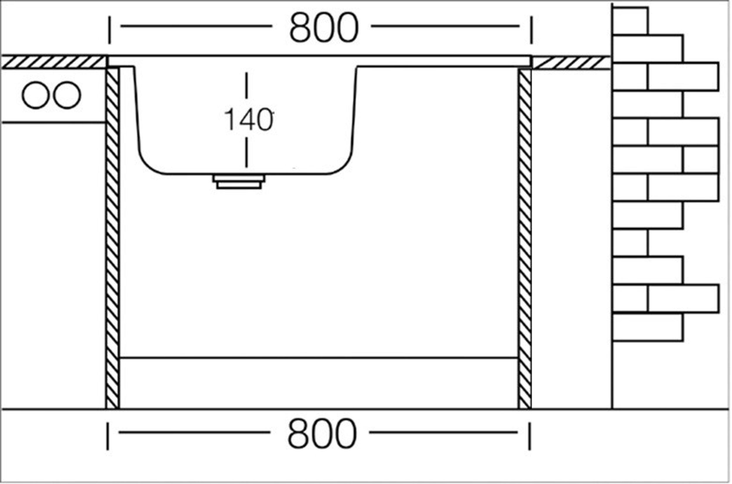 Auflagespüle Edelstahl, Edelstahlspüle 80cm X 60cm Mit Ablage, Spüle,  Waschbecken, Küchenspüle U2013