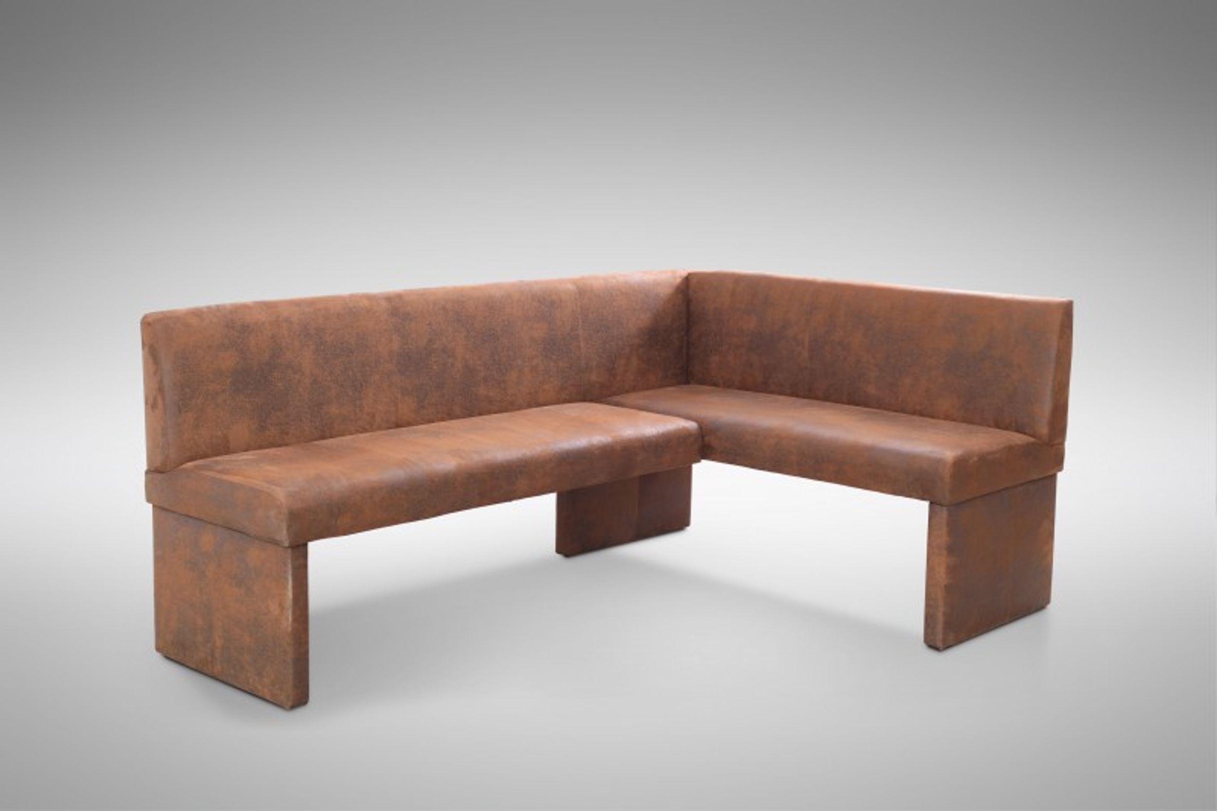 Design Eckbank Otto Modern Mirkofaser Wildlederlook / Vintage Braun   Links