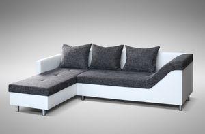 Sofa Couch Ecksofa Eckcouch Sofagarnitur in weiss / graubraun - Lissabon 2- L – Bild 4