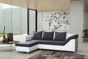 Sofa Couch Ecksofa Eckcouch Sofagarnitur in weiss / graubraun - Lissabon 2- L – Bild 1