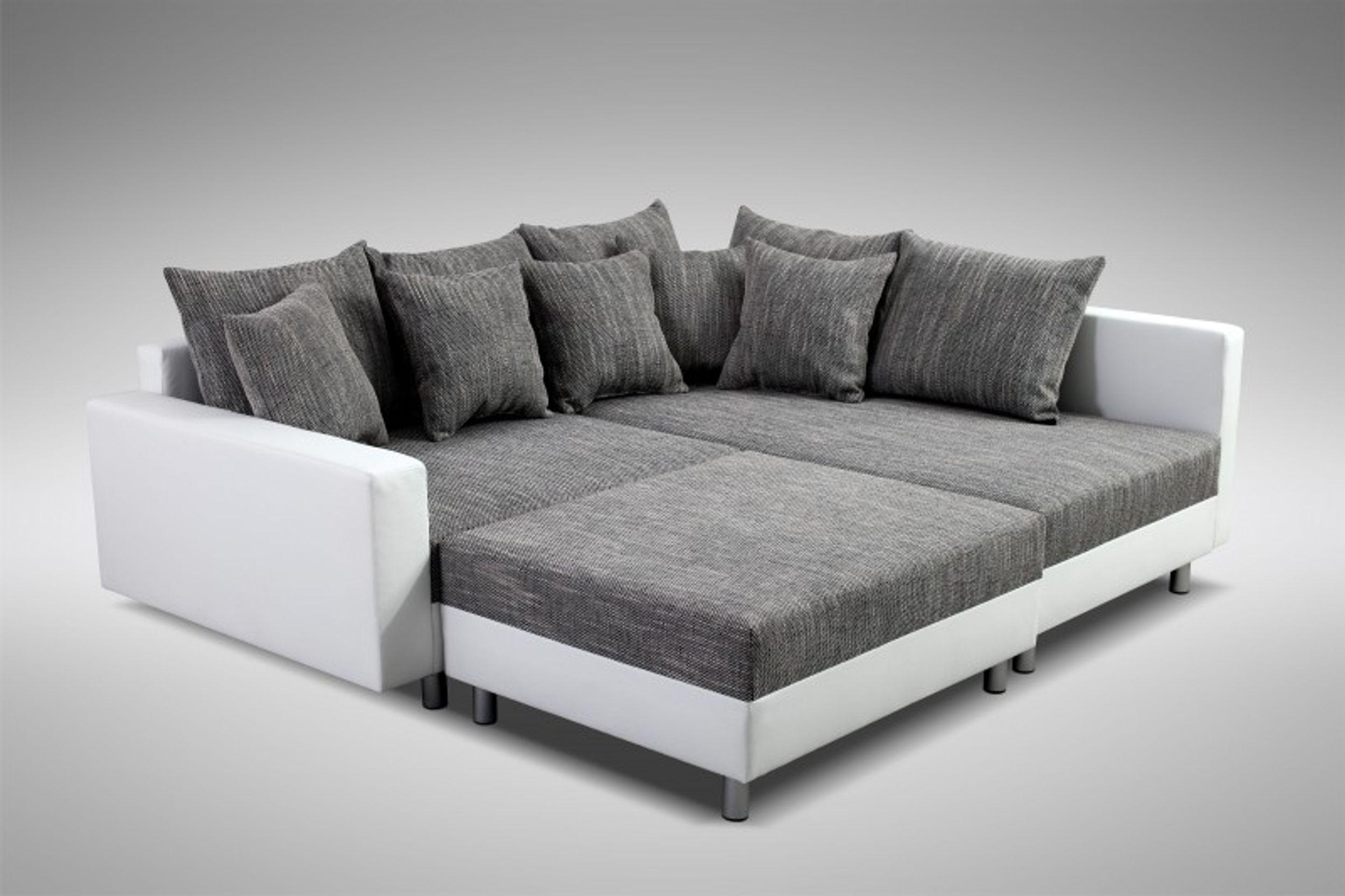 Modernes Sofa Couch Ecksofa Eckcouch In Weiss Eckcouch Mit Hocker