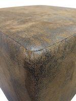 Design Sitzwürfel Kubus I Hocker 45x45x45 cm modern in Wildlederoptik braun – Bild 2