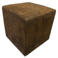 Design Sitzwürfel Kubus I Hocker 45x45x45 cm modern in Wildlederoptik braun – Bild 1
