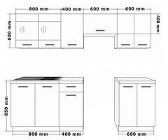 Küche Omega 240 cm Küchenzeile Küchenblock variabel stellbar in Schwarz Weiss – Bild 2