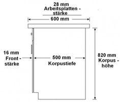 """Herdunterschrank passend für das Modell """"OMEGA Weiss / Schwarz"""" – Bild 3"""