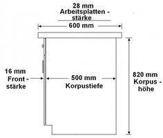 """Küchen Unterschrank 80 cm für das Modell """"Omega 240 Schwarz + Weiss"""" – Bild 2"""