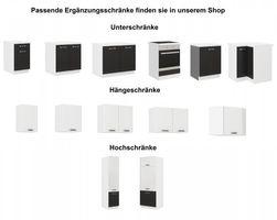 """Küchen Unterschrank 80 cm für das Modell """"Omega 240 Schwarz + Weiss"""" – Bild 4"""