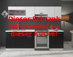 """Küchen Hängeschrank 80 cm für das Modell """"Omega 240 Schwarz + Weiss"""" – Bild 3"""