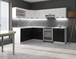 Schon Eckküche Küche Omega 170x250 Cm Küchenzeile Küchenblock Winkelküche Schwarz  Weiß U2013 Bild 1