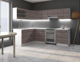 Eckküche Küche Dave 170x250 cm Küchenzeile Küchenblock Winkelküche Sonoma Eiche – Bild 1
