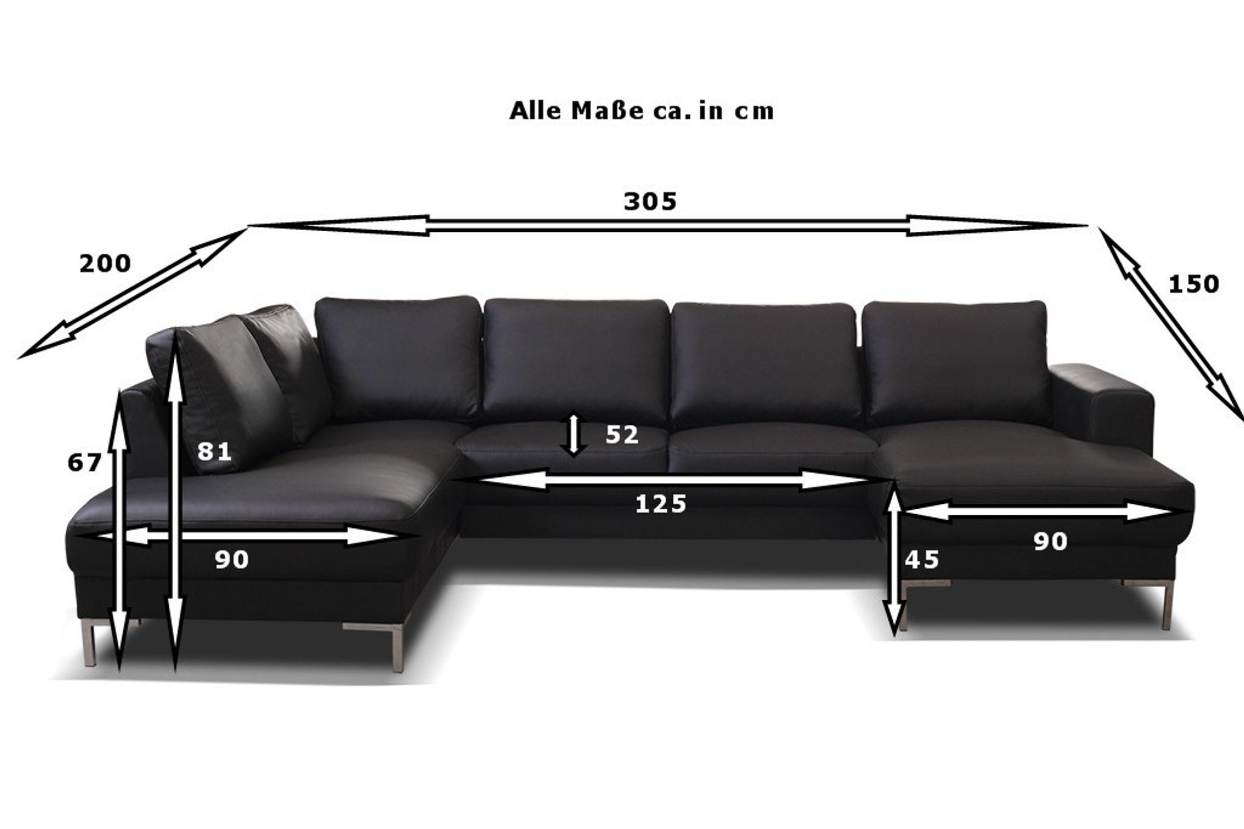 TOP Sofa Couch Ecksofa Eckcouch Wohnlandschaft in Kunstleder ...