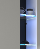 Glaskantenbeleuchtung 2 Set LED Clips Beleuchtung Glasbeleuchtung Glasklammer – Bild 1