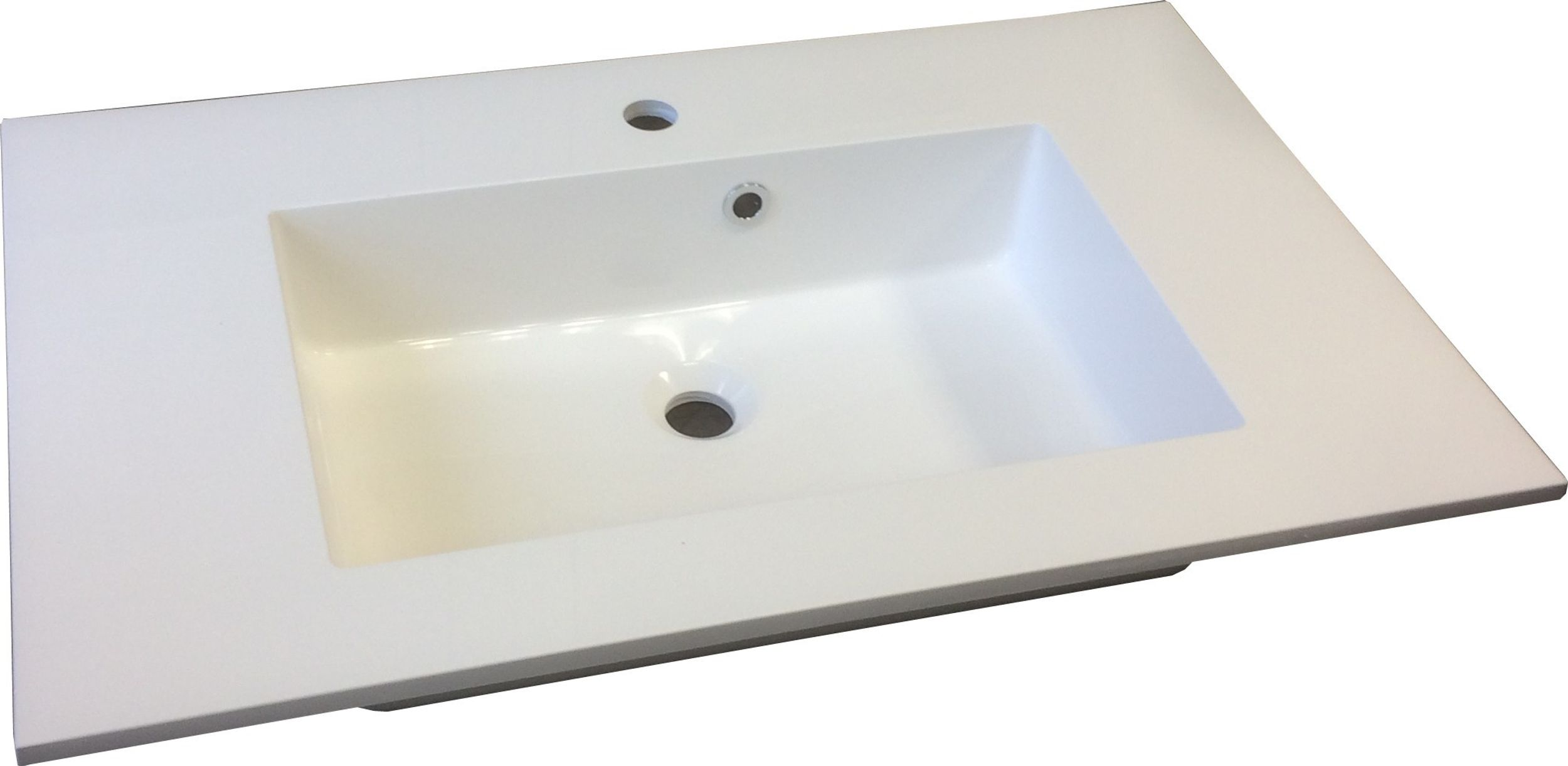 Badmöbel Badezimmer Regina 5tlg Set in Grau matt + Weiss matt 80 cm Waschtisch – Bild 4
