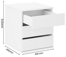 Schubkasteneinsatz Schwebetürenschrank Schrank Schlafzimmer Weiss Kommode – Bild 2