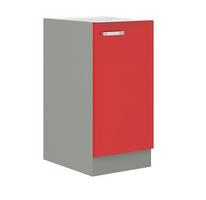 Küchen Unterschrank 40 cm Rose Hochglanz Rot Grau Küchenzeile Küchenblock Küche – Bild 1