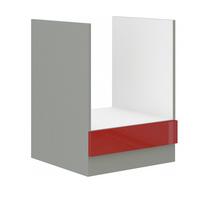 Herd Unterschrank 60 cm Rose Hochglanz Rot + Grau Küchenzeile Küchenblock Küche – Bild 1
