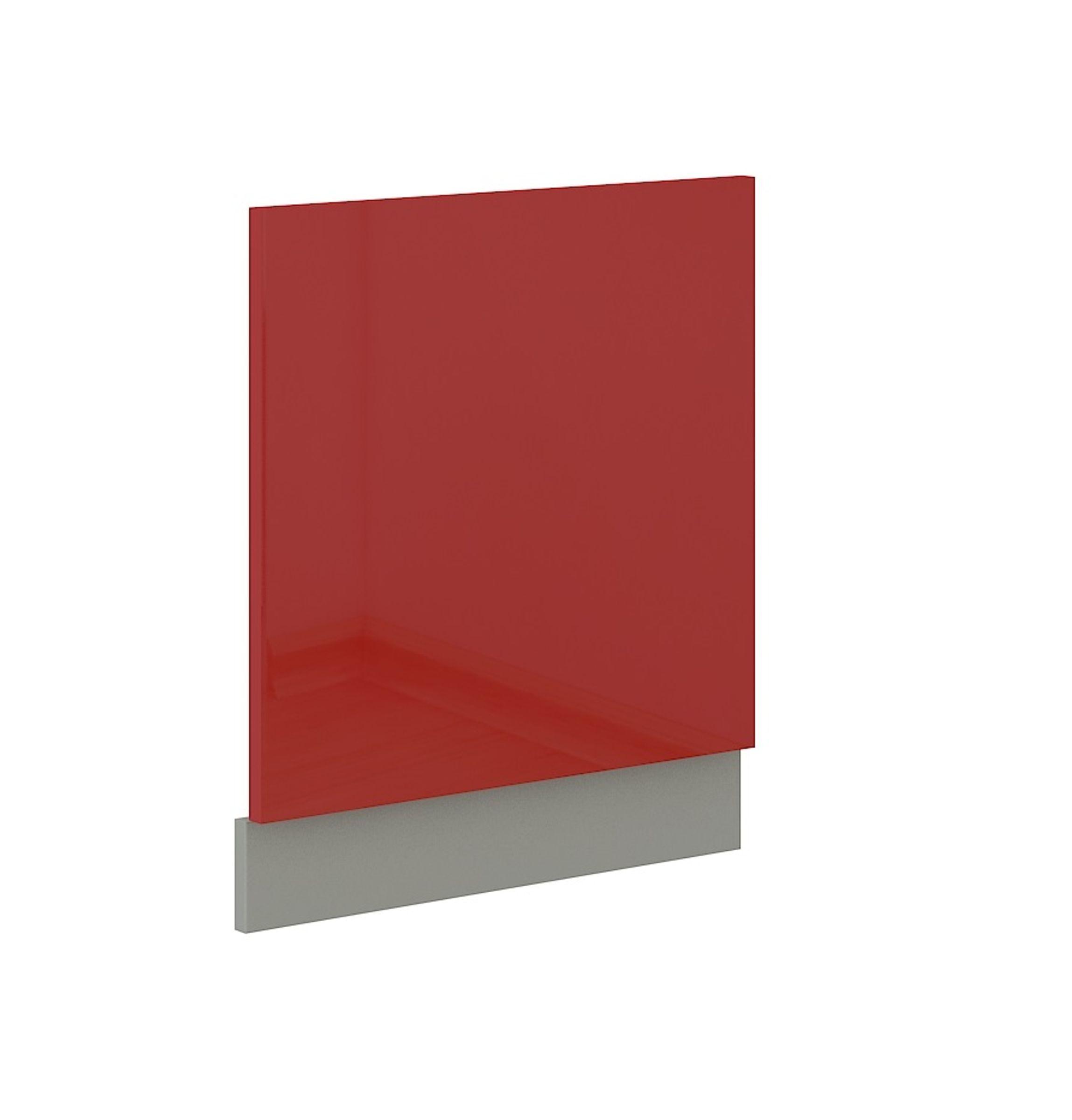 Frontblende für integrierten Geschirrspüler 60 cm Rose Hochglanz rot – Bild 1