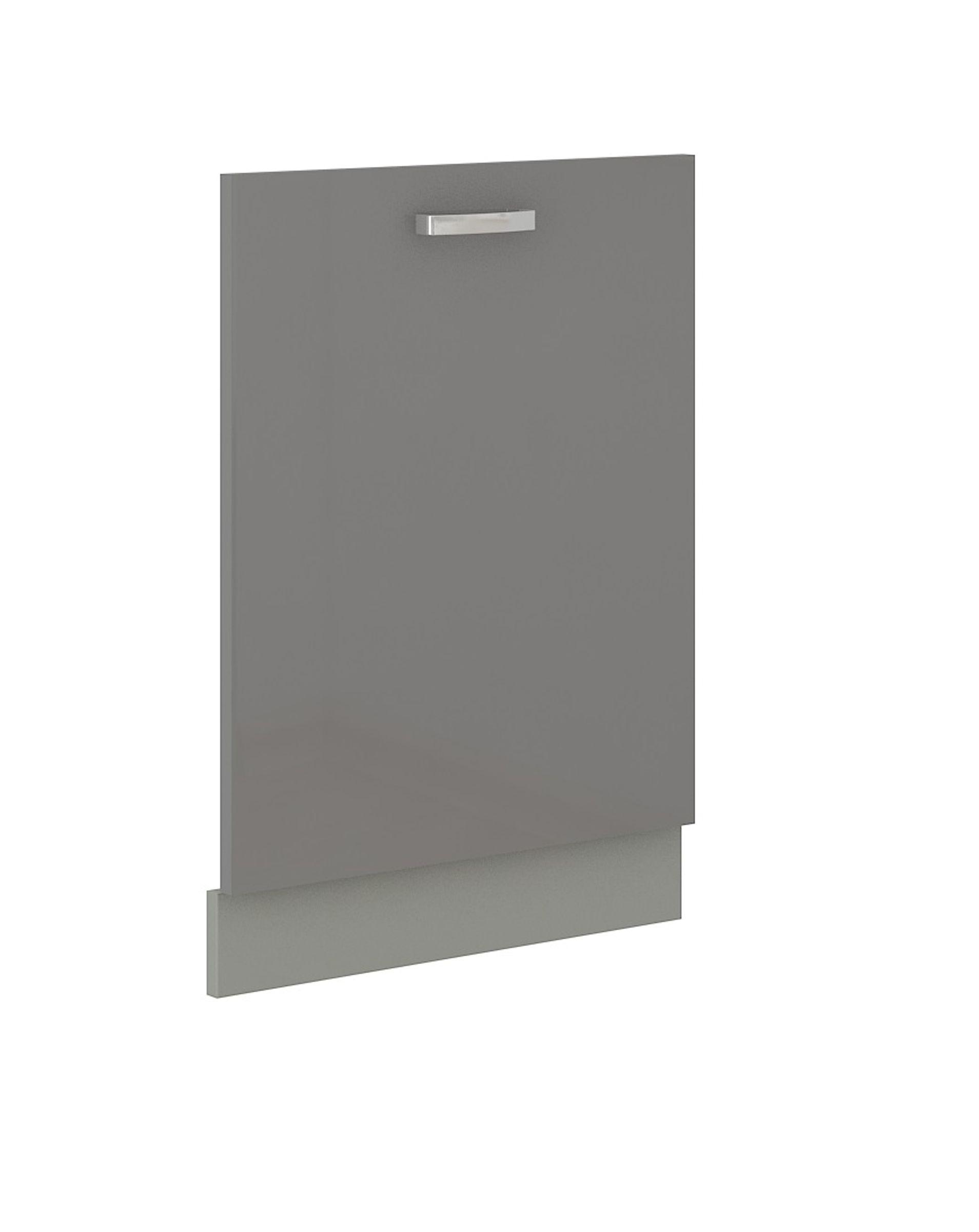 Frontblende für vollintegrierten Geschirrspüler 60 cm Grey Hochglanz Grau – Bild 1