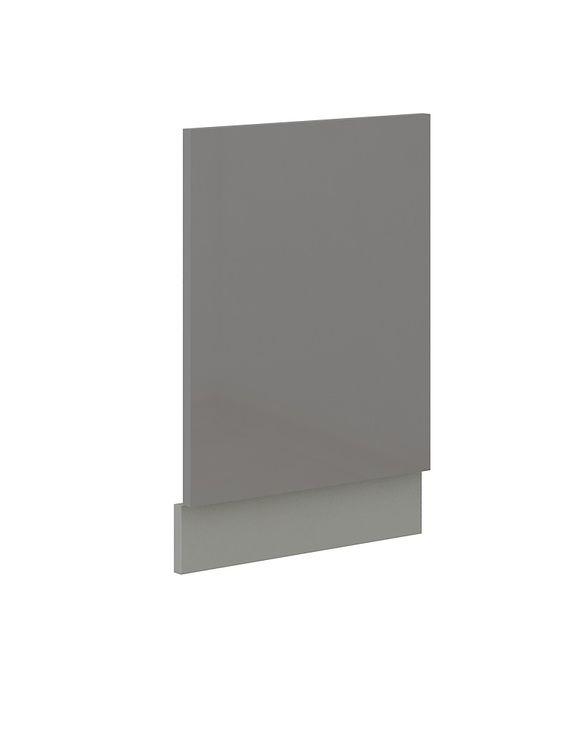 Frontblende für integrierten Geschirrspüler 45 cm Grey Hochglanz Grau