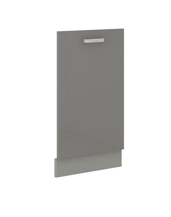 Frontblende für vollintegrierten Geschirrspüler 45 cm Grey Hochglanz Grau