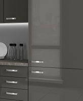 Küche Vario Ecke II 210x330 cm Küchenzeile in Hochglanz Grau Küchenblock  – Bild 2