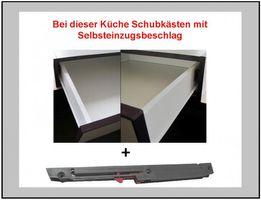 Küche Vario Ecke II 210x330 cm Küchenzeile in Hochglanz Grau Küchenblock  – Bild 6