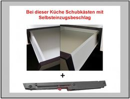 Küche Vario Ecke IV 210x330 cm Küchenzeile in Hochglanz Grau+Weiss Küchenblock  – Bild 6
