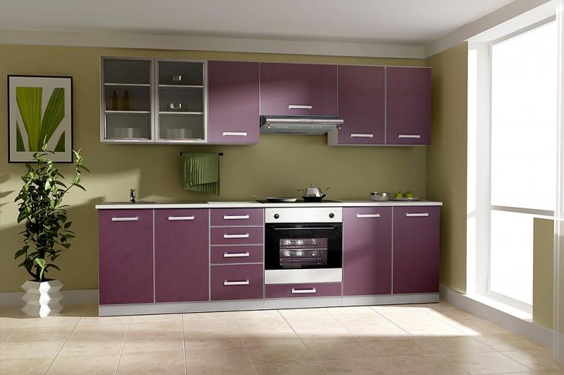Küche Emma 260Cm Küchenzeile / Küchenblock Variabel Stellbar In