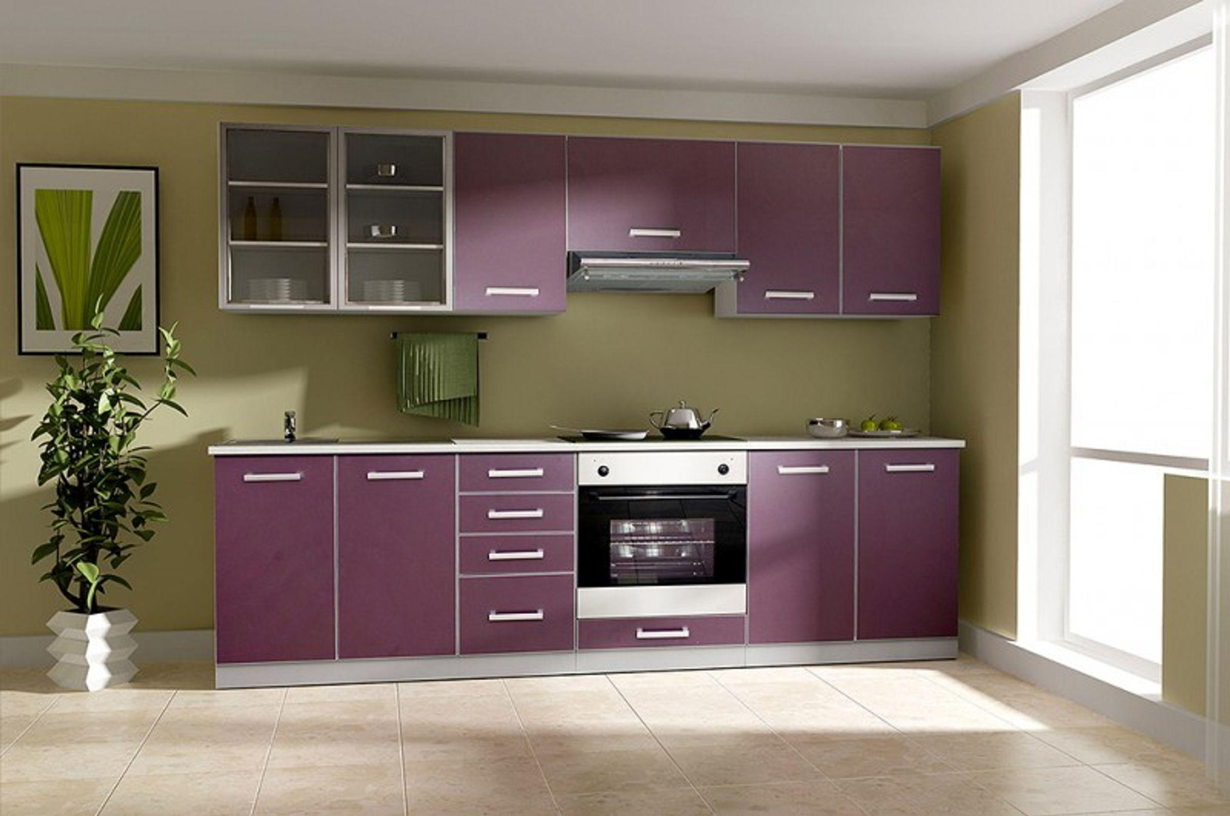 Küche Emma 260cm Küchenzeile / Küchenblock variabel stellbar in ...