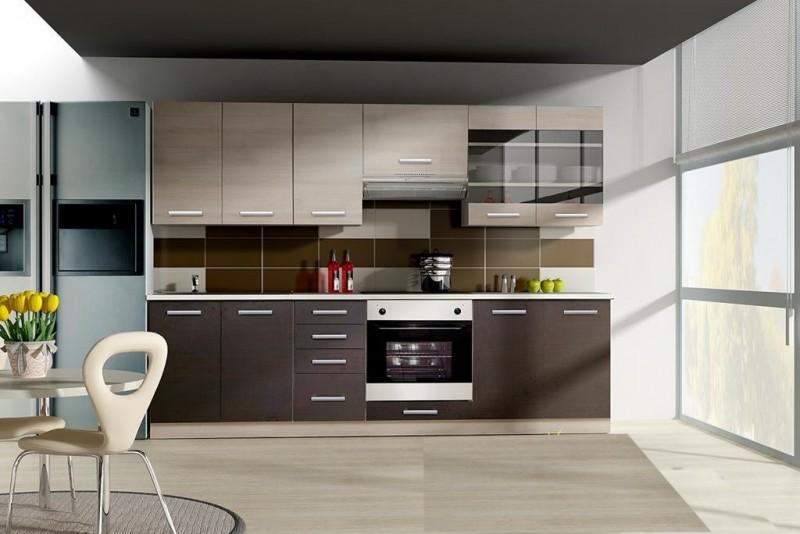 Küchen günstig kaufen  Küche Wiktoria 260cm Küchenzeile / Küchenblock variabel stellbar ...
