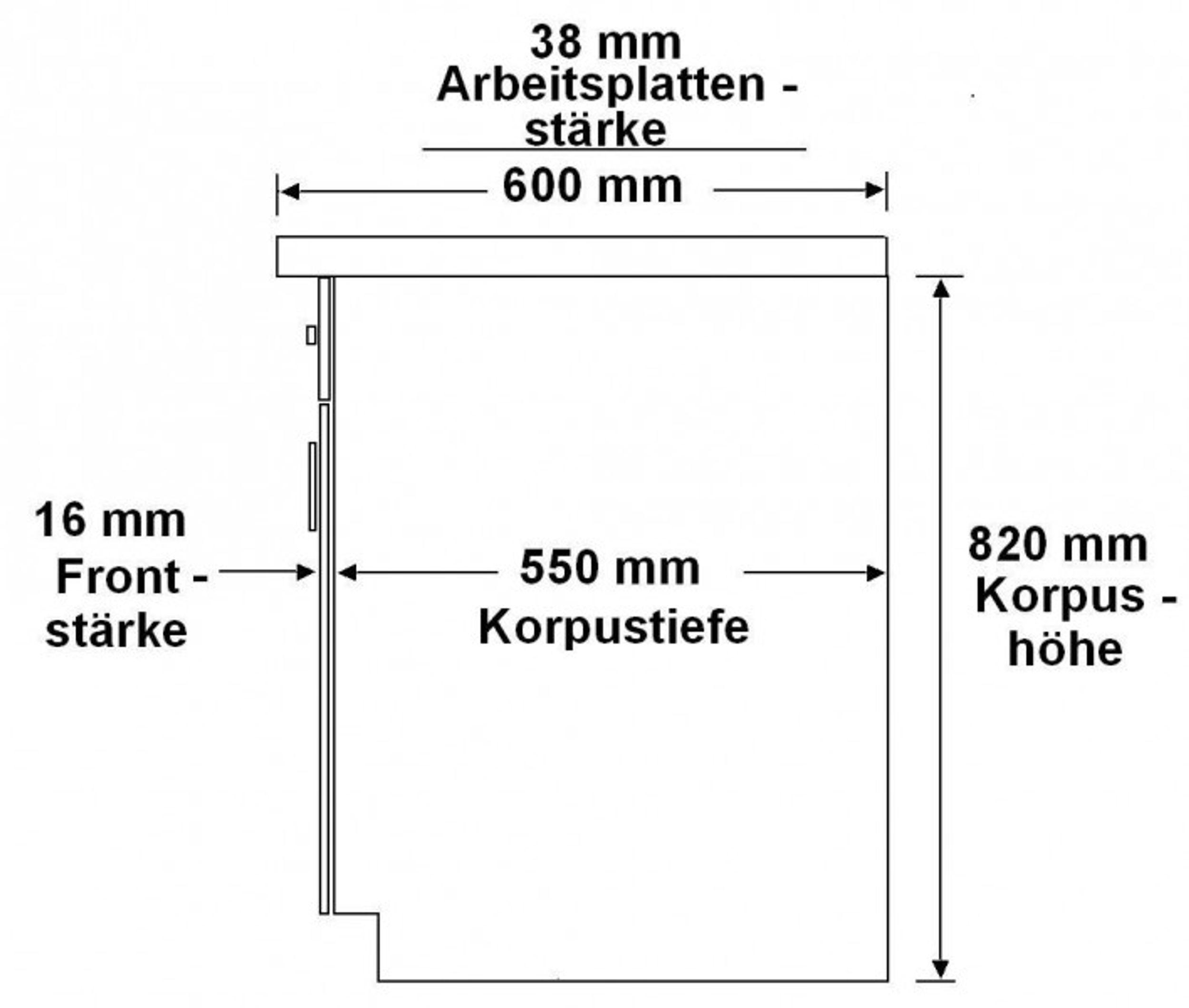 Küche Fabienne 310 cm Küchenzeile in schwarz / weiß -  Küchenblock variabel stellbar – Bild 3