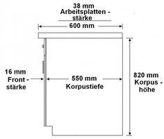 Küche Fabienne 150 cm Küchenzeile in schwarz / weiß -  Küchenblock variabel stellbar – Bild 3