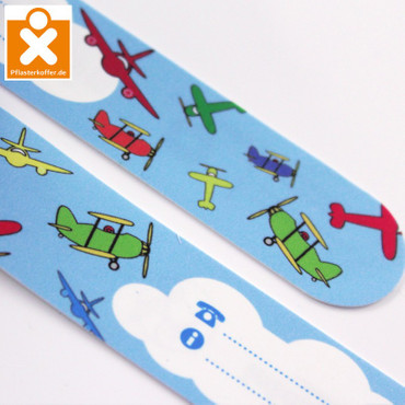Namensband/ID Band für Kinder Motiv Flugzeuge – Bild 1