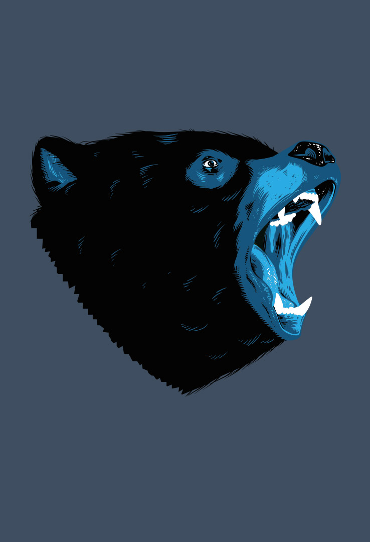 T-Shirt Scream Bear
